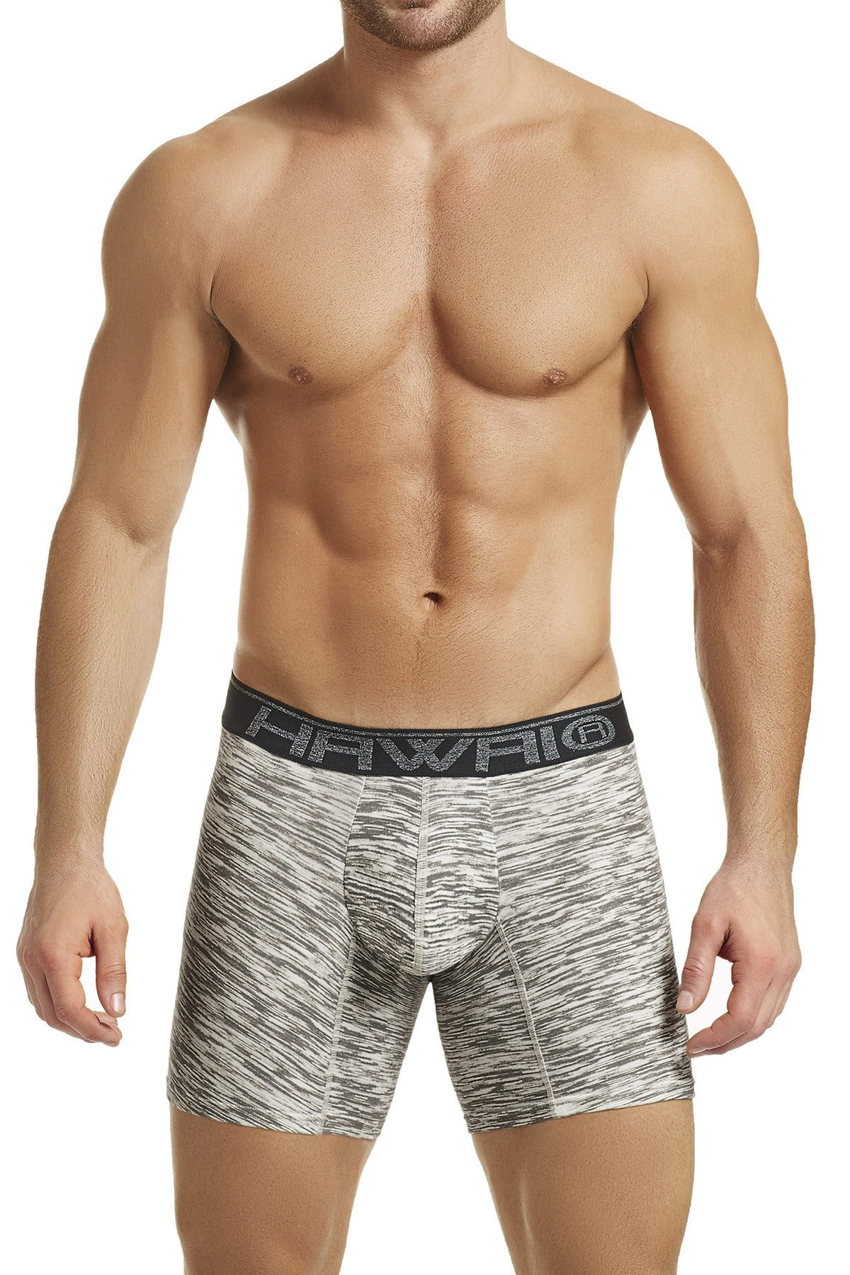Hawai Grey Heathered-Print Boxer Brief