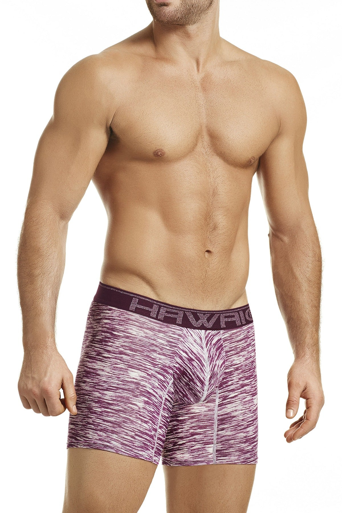 Hawai Red Heathered-Print Boxer Brief
