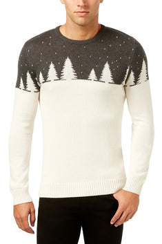 Holiday Arcade Charcoal-Heather Knit Color-Blocked Pullover Sweater