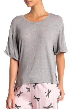 Honeydew Intimates Sake-Grey Breakaway Rib Lounge Tee