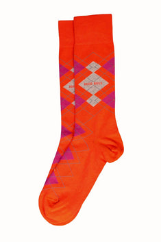 Hugo Boss Orange Argyle Sock