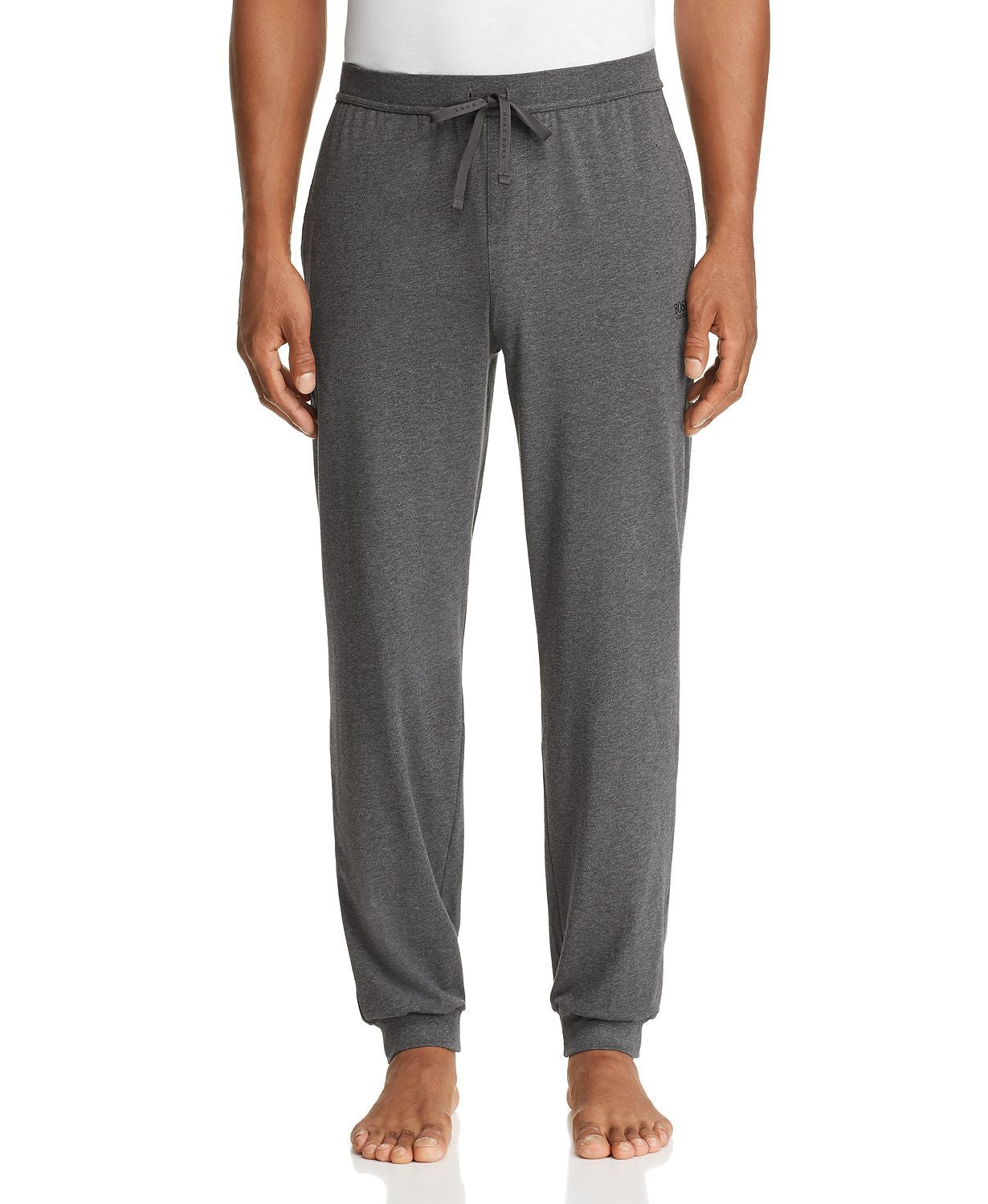 Hugo Boss Stretch Cotton Lounge Pants in Gray