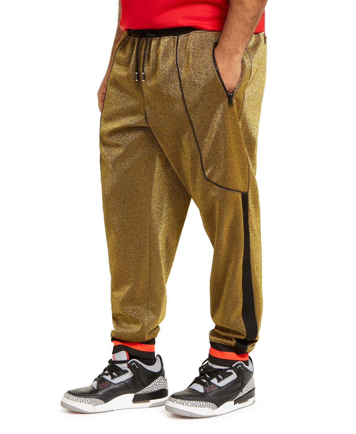Inc International Concepts Inc Big & Tall Metallic Jogger Pants Inc Gold