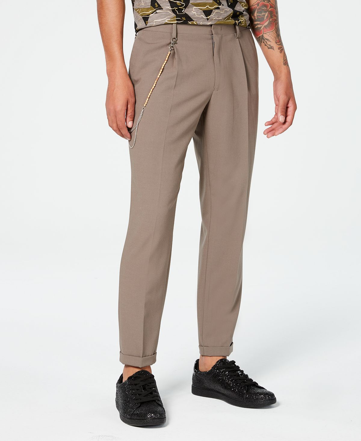 Inc International Concepts Inc Slim-fit Pleated Pants Taupe Tone