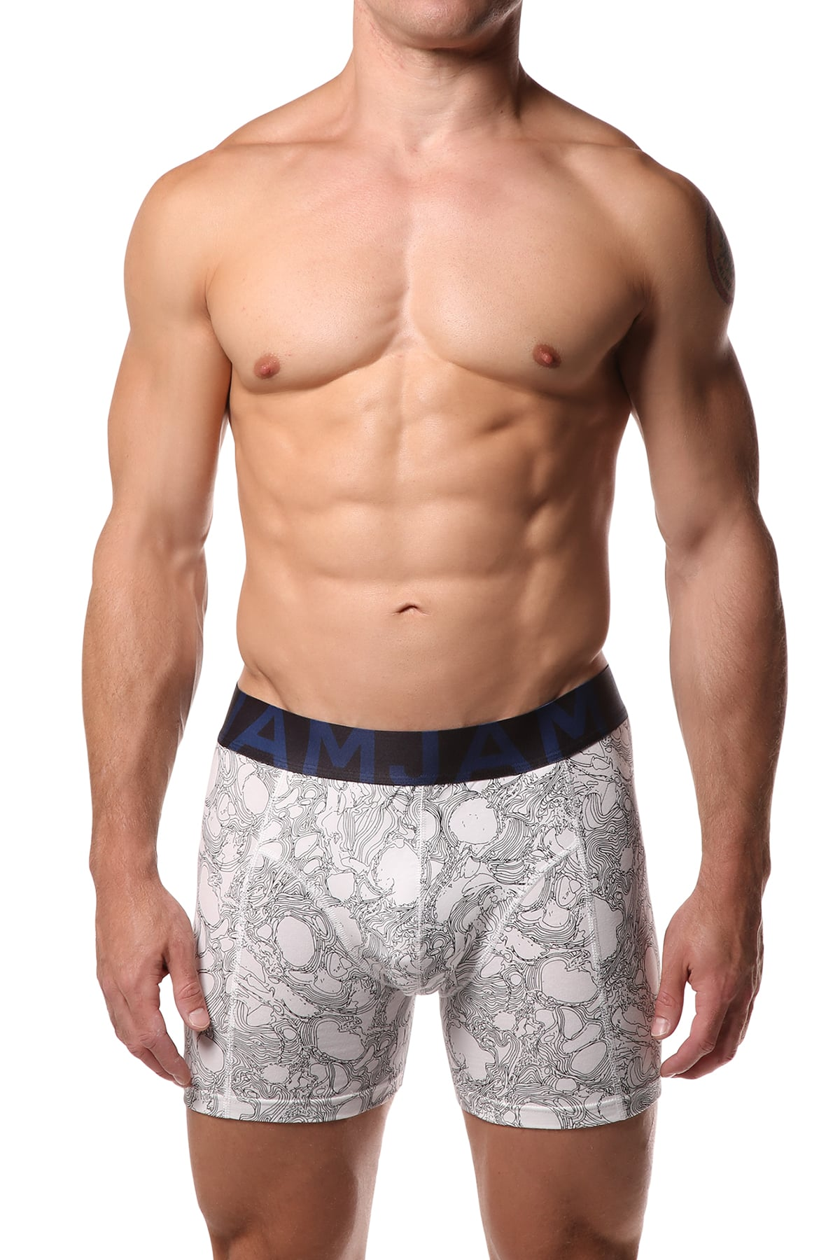 Jam Blue & Black Boxer Brief
