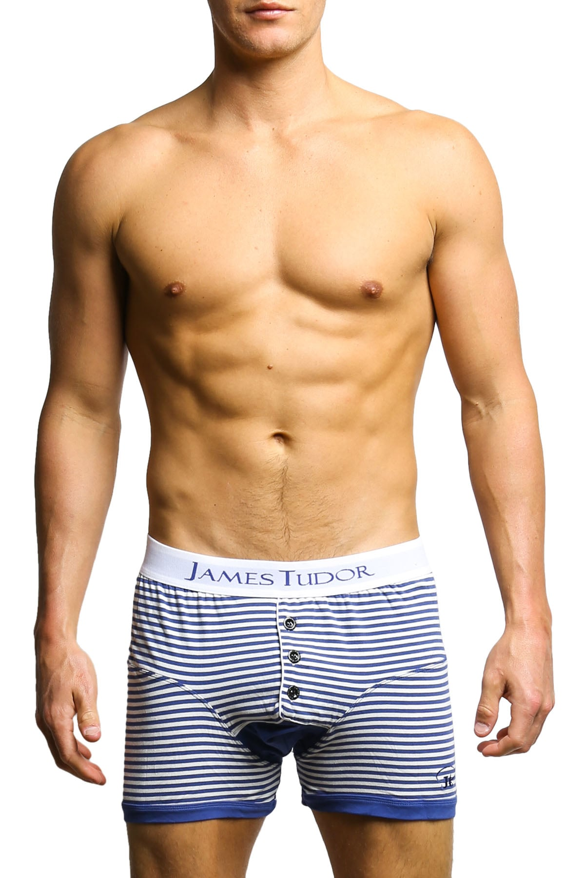 James Tudor Navy & White Regal Boxer