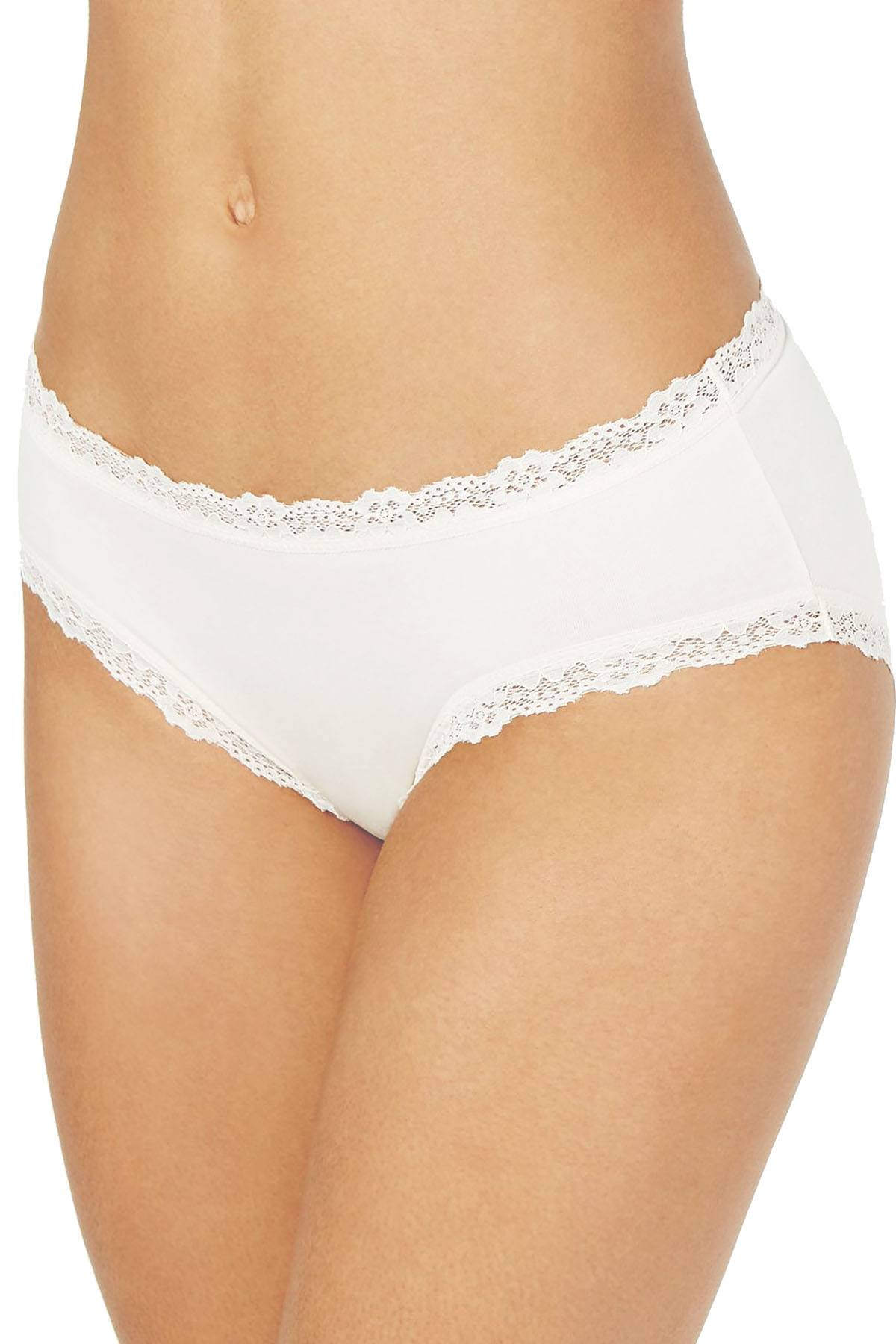 Jenni Cotton Lace Trim Hipster in Sugar Berry