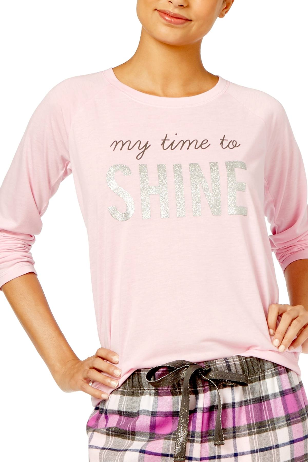 Jenni Graphic Lounge Top in Time to Shine Pink