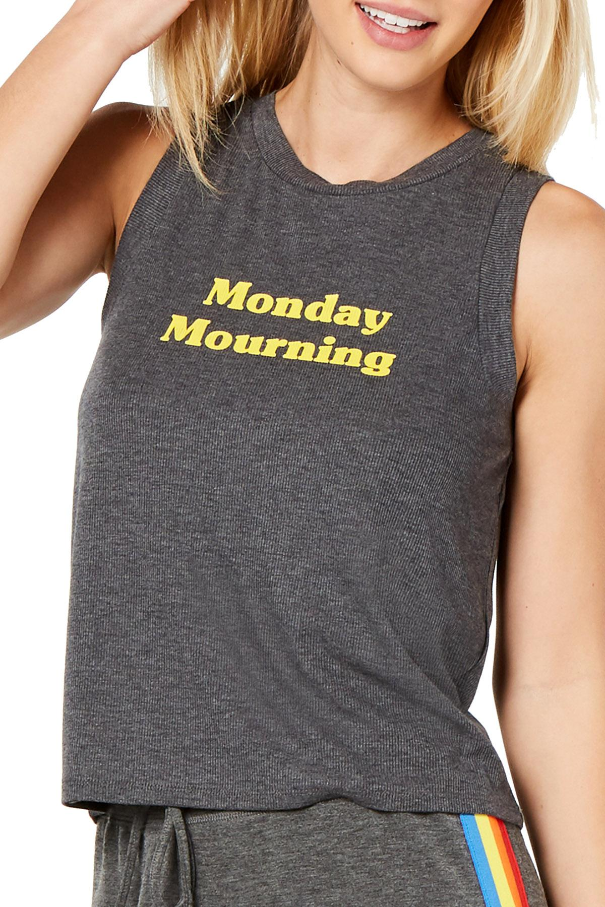 Jenni by Jennifer Moore Monday Mourning Ribbed Crop Tank Top