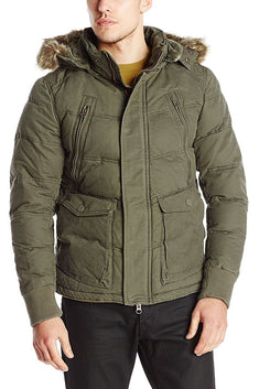 Jetlag Olive Hooded Parka