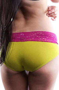 Jezebel Lime & Magenta Cheeky Brief