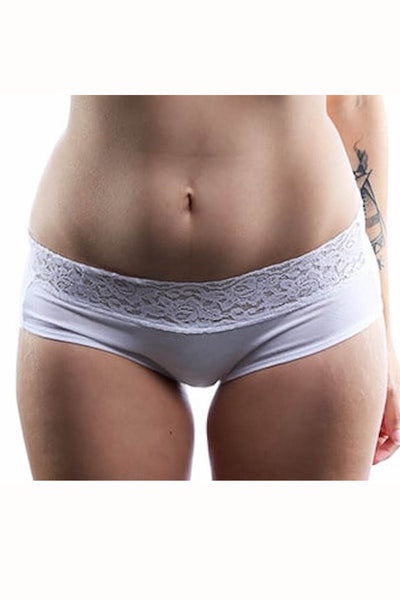 Jezebel White Cheeky Brief
