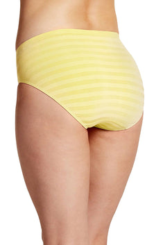 Jockey Crystal-Yellow Seamfree Matte-and-Shine Comfies Hi-Cut Brief