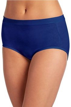 Jockey Gaileo-Blue Cotton-Stretch High-Rise Brief