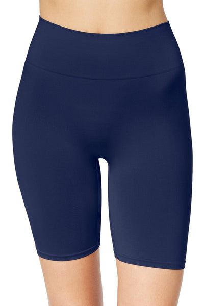 Jockey Just-Past-Midnight-Blue Slimmers Deluxe Mid-Waist Long-Leg Short - CheapUndies.com