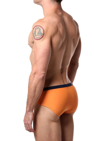 Jocko Orange Diagonal Swim Bikini