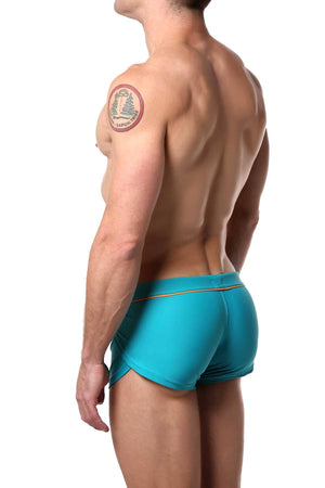 Jocko Teal Ernesto Square Cut Swim Trunk