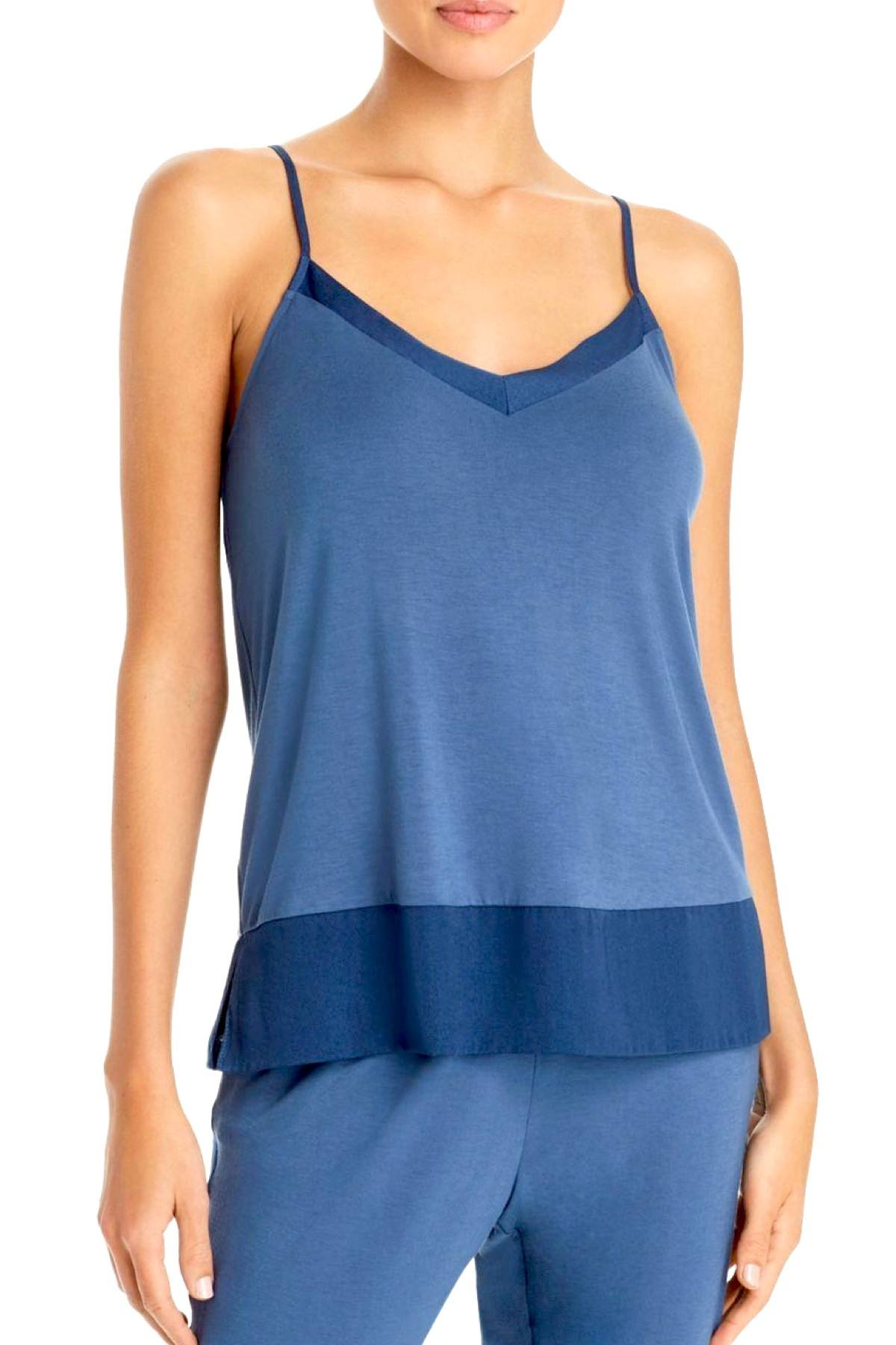 Josie by Natori Sweet Street Satin Trim Camisole in Batik Blue