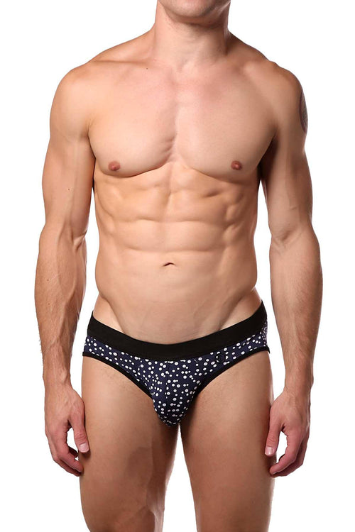 JustinCase Navy/White Bubble Brief - CheapUndies.com