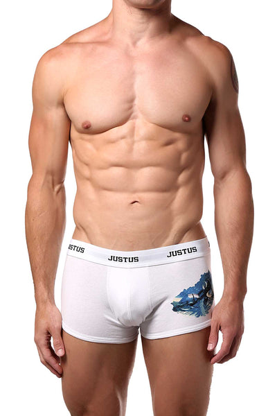 Justus Boyz White Motorcycle Trunk