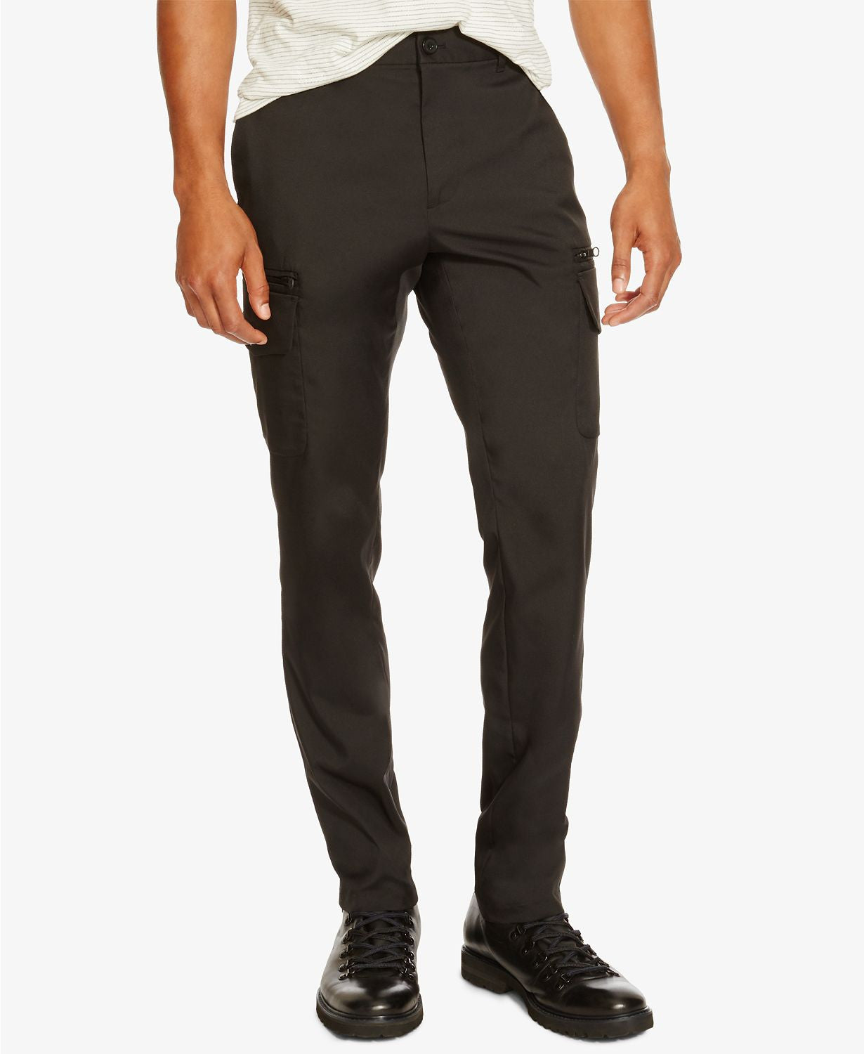 KKenneth Cole Reaction Black Cargo Pants Black