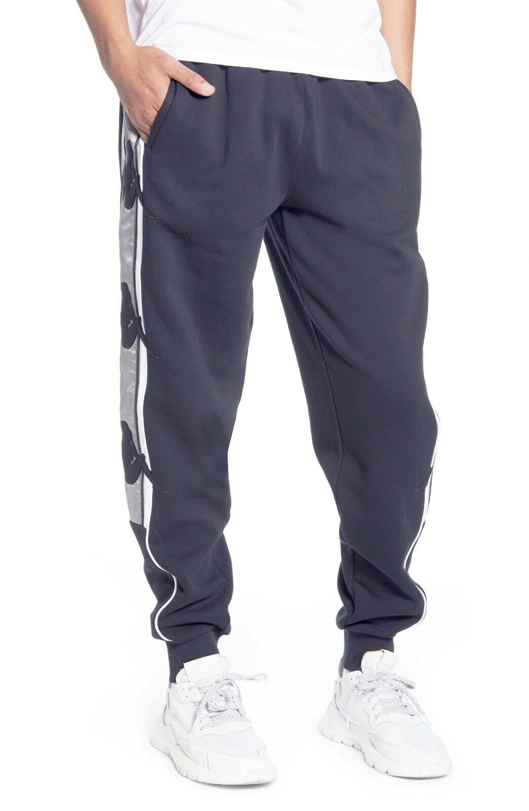Kappa Authentic Zallard Fleece Sweatpant in Blue Greystone