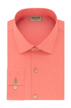 Kenneth Cole Reaction Coral Slim-Fit Techni-Cole Flex Collar Solid Dress Shirt