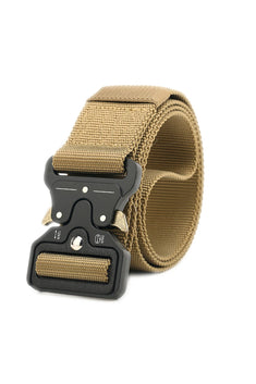 Khaki Military Style Tactical Belt Nylon Belt with Heavy-Duty Quick-Release Metal Buckle
