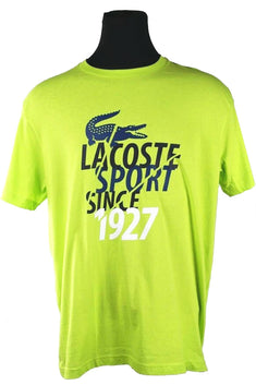 Lacoste Sport Neon-Green Graphic 1927 T-Shirt