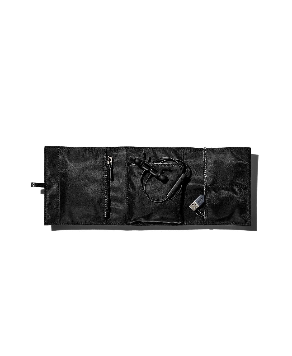 Lambertson Truex Pebbled Leather Soft Utility Roll Black
