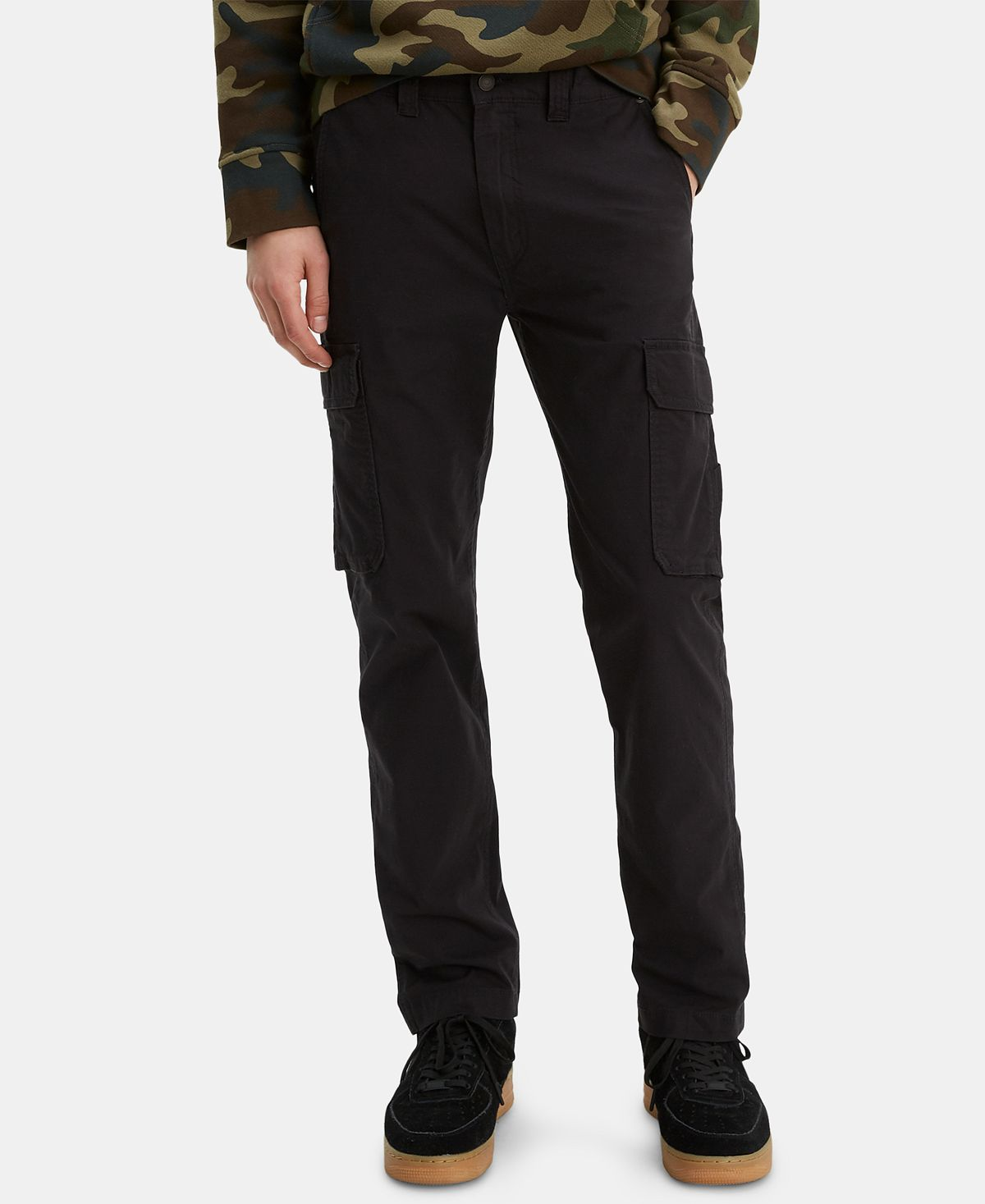 Levi's 502 Aviator Tapered Cargo Pants Caviar