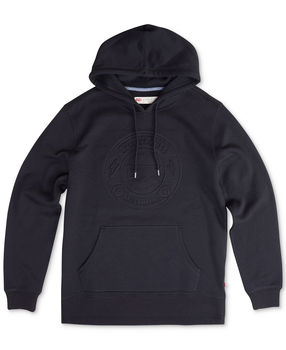 Levi's Arena Embossed-logo Pullover Hoodie Caviar
