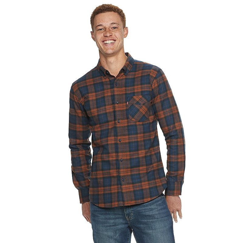 Levi's Flannel Shirt, Size: Small, Light Red Brown