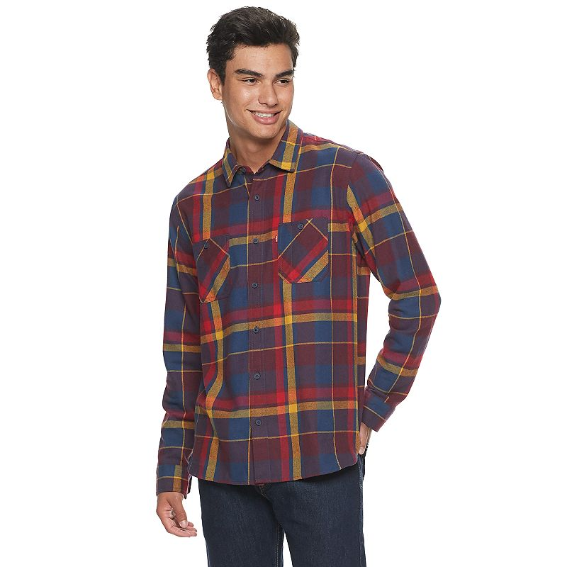 Levi's Flannel Shirt Yellow Tan