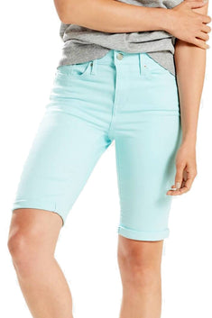 Levi's Iced-Aqua Twill Denim Bermuda Short