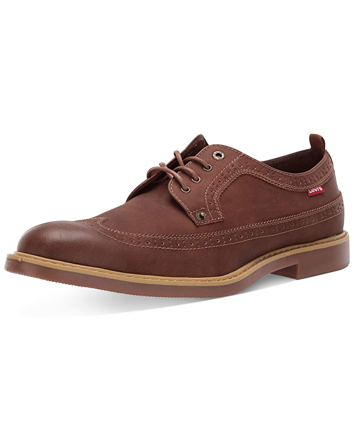 Levi's Tindal Ul Wingtip Oxfords Dark Tan