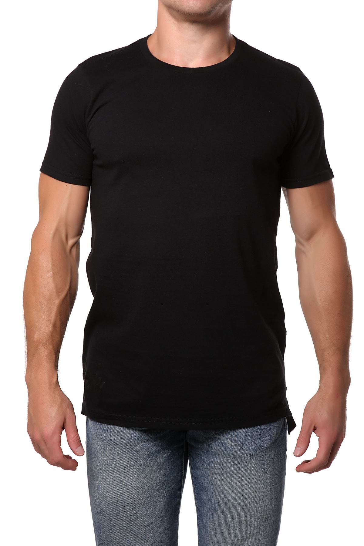 Lick Black Long Cotton Graphic Tee