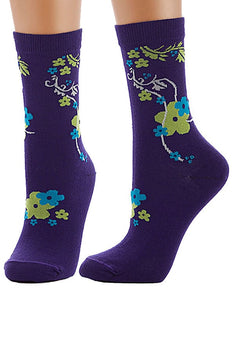 Lucci Purple Azalea Crew Sock