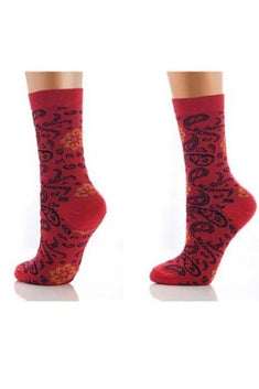 Lucci Red Autumn Crew Sock