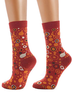 Lucci Red Bubbles Sock