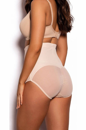 Maidenform Champagne-Ivory Sexy Firm-Control High-Waisted Brief