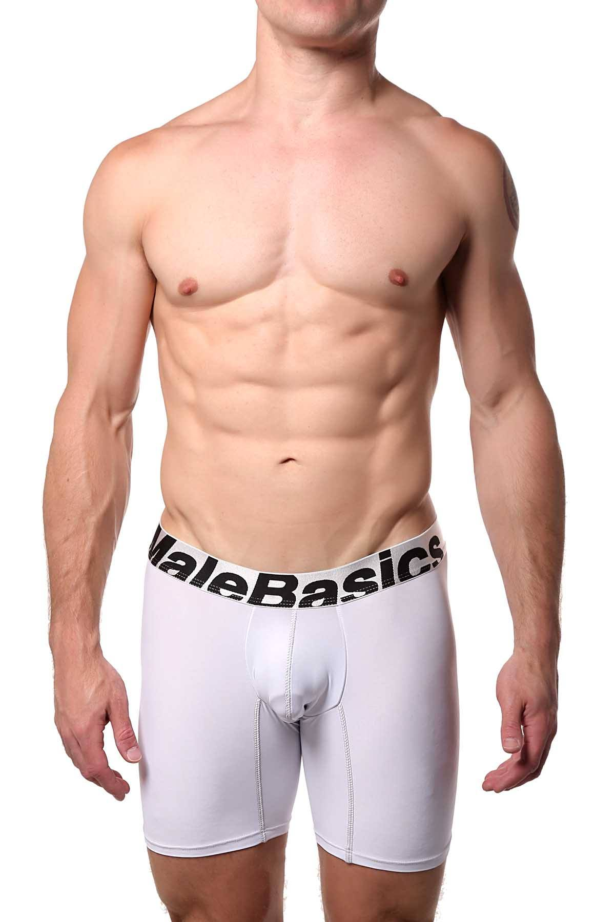 Male Basics White Microfiber Boxer Brief