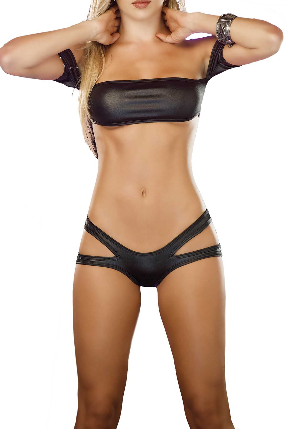 Mapale 2pc Black Dance To Impress Lingerie Set