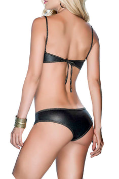 Mapale 2pc Black & Gold Lingerie Set