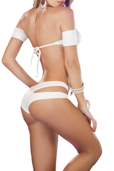 Mapale 2pc White Dance To Impress Lingerie Set