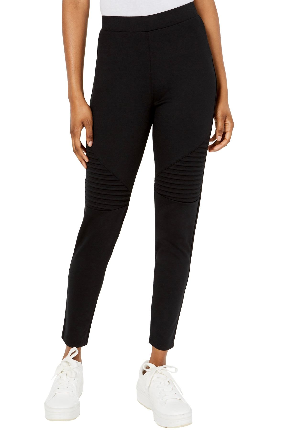 Material Girl Jet Black Junior's High Rise Moto Legging