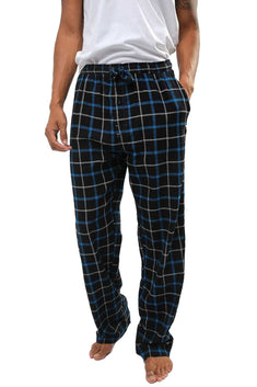 Memphis Blues Black/Blue/White Flannel Pajama Pant