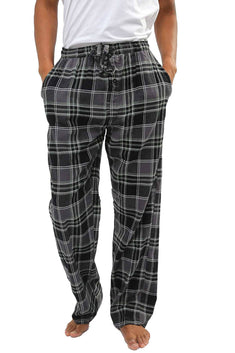 Memphis Blues Grey/Black/Sage Flannel Pajama Pant