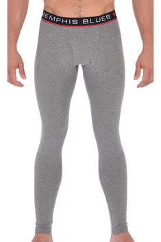 Memphis Blues Grey Cotton-Stretch Long Underwear