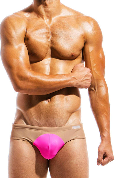 Modus Vivendi Fuschia/Nude Swim Brief - CheapUndies.com